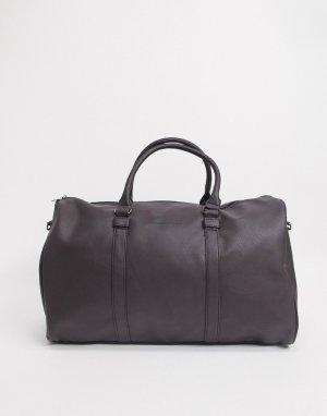 Коричневая дорожная сумка из искусственной кожи -Коричневый French Connection