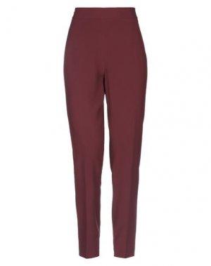 Повседневные брюки GOSSIP. Цвет: баклажанный