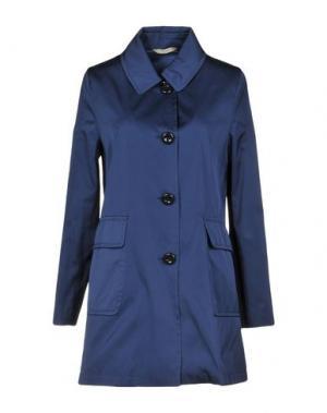 Легкое пальто MANUELA CONTI. Цвет: темно-синий