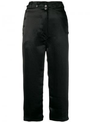 Укороченные атласные брюки Ann Demeulemeester. Цвет: черный