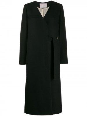 Пальто-кейп на пуговицах Tela. Цвет: черный