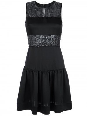 Sequin panelled dress Gloria Coelho. Цвет: черный