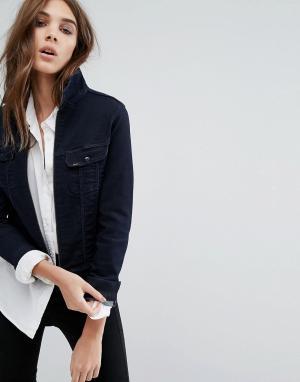 Джинсовая куртка на молнии Lee. Цвет: синий