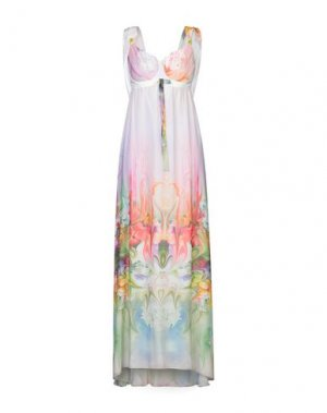Длинное платье X'S MILANO. Цвет: слоновая кость