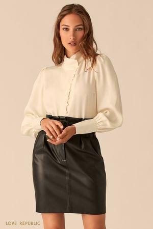 Блузка в викторианском стиле из купро кремового цвета LOVE REPUBLIC