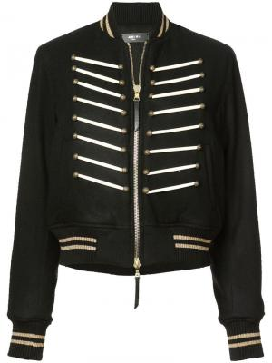 Укороченная куртка-бомбер Amiri. Цвет: черный