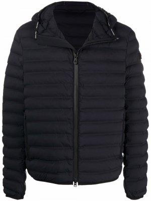 Куртка на молнии с капюшоном Peuterey. Цвет: черный