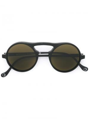 Солнцезащитные очки Pompeo Monocle Eyewear. Цвет: чёрный
