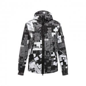 Хлопковая куртка C.P. Company. Цвет: серый