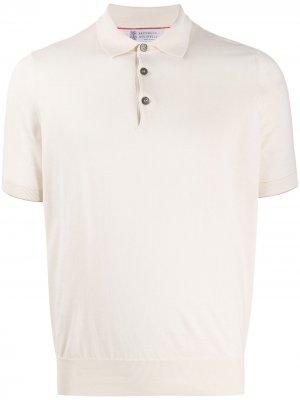 Рубашка-поло Classica Brunello Cucinelli. Цвет: нейтральные цвета