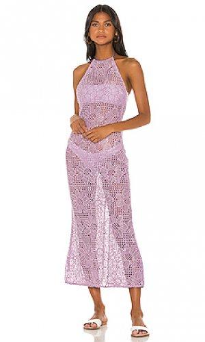 Макси платье eddie MAJORELLE. Цвет: бледно-лиловый