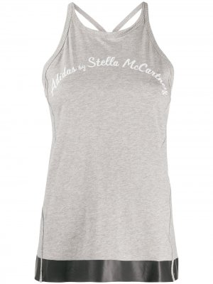 Топ без рукавов с логотипом adidas by Stella McCartney. Цвет: серый