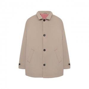 Пуховое пальто Brunello Cucinelli. Цвет: бежевый