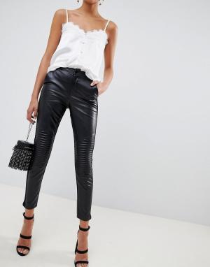 Черные брюки из искусственной кожи Outrageous Fortune