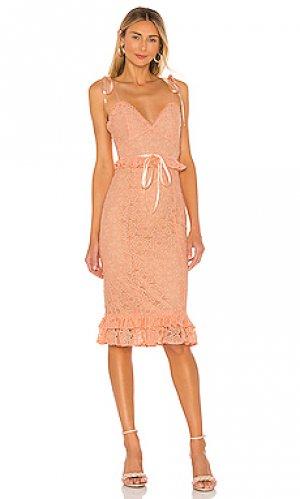 Платье миди ellington MAJORELLE. Цвет: peach