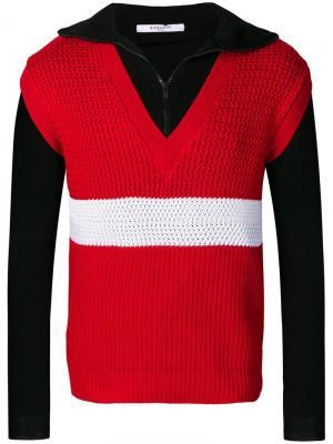 Многослойный жилет Givenchy. Цвет: красный