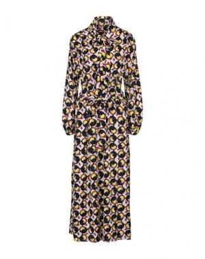 Длинное платье BRIAN DALES. Цвет: бежевый