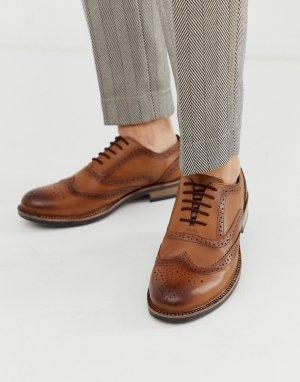 Светло-коричневые массивные броги -Светло-коричневый Redfoot