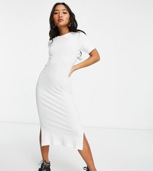 Белое длинное платье-футболка Otto-Белый Brave Soul Petite