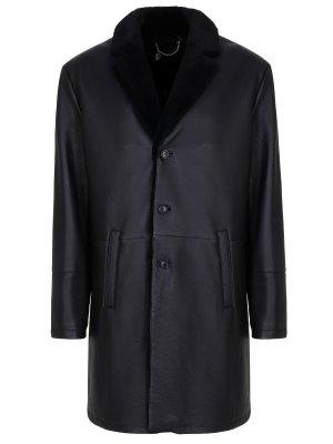 Куртка кожаная на меху HETTABRETZ