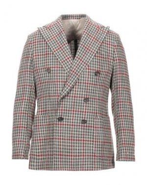 Пиджак DOPPIAA. Цвет: зеленый-милитари