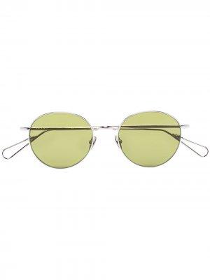 Солнцезащитные очки Opera в круглой оправе Ahlem. Цвет: серебристый