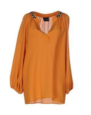 Блузка ATOS LOMBARDINI. Цвет: оранжевый