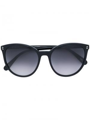 Солнцезащитные очки в оправе кошачий глаз Stella Mccartney Eyewear. Цвет: чёрный