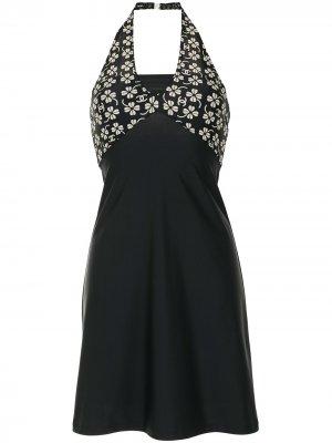 Пляжное платье 2001-го года с логотипом CC Chanel Pre-Owned. Цвет: черный