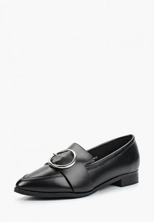 Лоферы LOST INK IGGY METAL TRIM LOAFER. Цвет: черный