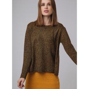 Пуловер расширяющегося покроя COMPANIA FANTASTICA. Цвет: бронзовый