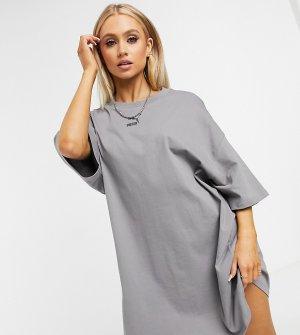 Серое платье-футболка эксклюзивно для ASOS-Фиолетовый Puma