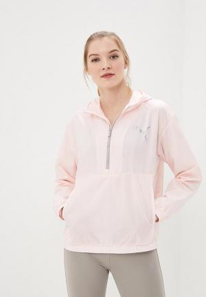 Ветровка PUMA Spark 3/4 zip. Цвет: розовый