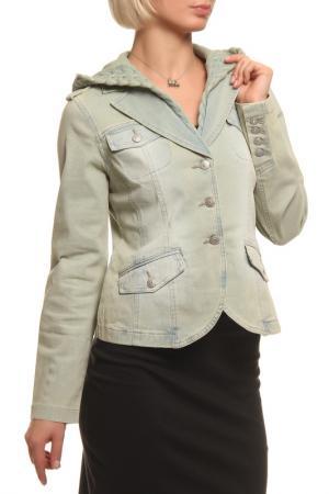 Куртка LAFEI-NIER. Цвет: зеленый