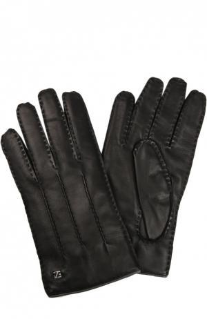 Перчатки Ermenegildo Zegna. Цвет: черный