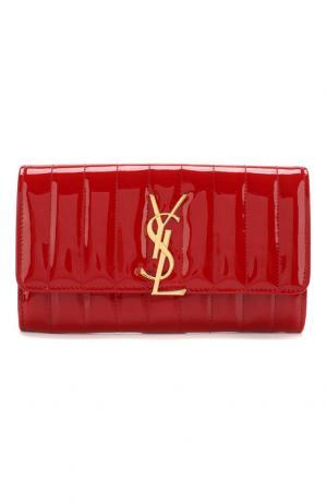 Лакированный кошелек Vicky Saint Laurent. Цвет: красный