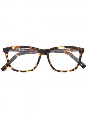 Очки в квадратной оправе Dior Eyewear. Цвет: коричневый