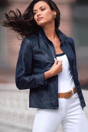 Куртка кожаная Madeleine. Цвет: marine