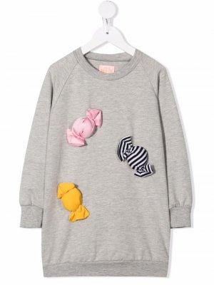 Платье-свитер Carla Candy WAUW CAPOW by BANGBANG. Цвет: серый