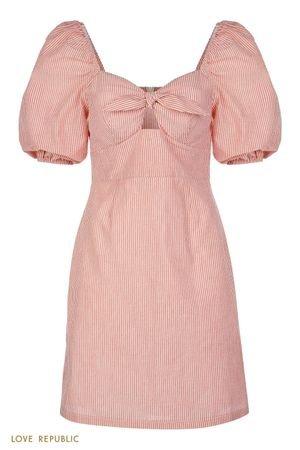 Платье-мини с комбинированным кроем LOVE REPUBLIC