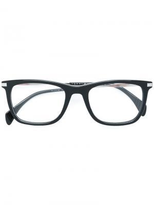 Очки в квадратной оправе Tommy Hilfiger. Цвет: черный