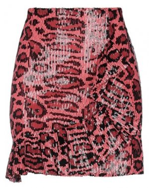 Мини-юбка ANIYE BY. Цвет: коралловый