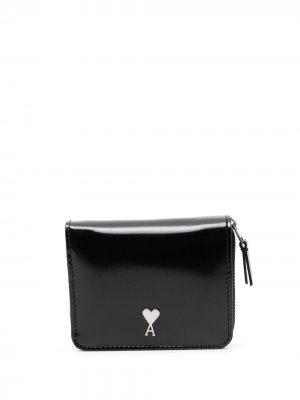 Компактный кошелек с монограммой Ami de Coeur Paris. Цвет: черный