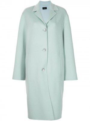 Однобортное пальто Joseph. Цвет: синий