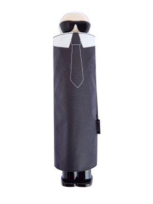 Зонт с фирменным принтом K/Ikonik в технике аппликации KARL LAGERFELD. Цвет: черный