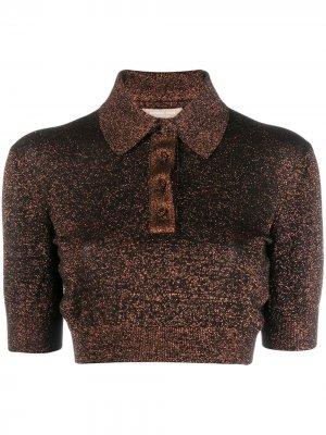 Рубашка-поло с блестками Michael Kors. Цвет: нейтральные цвета