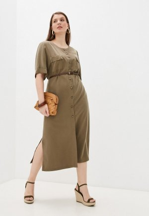 Платье Electrastyle. Цвет: хаки
