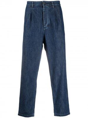 Прямые джинсы Valentino. Цвет: синий