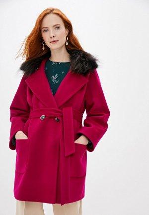 Пальто Doroteya. Цвет: розовый