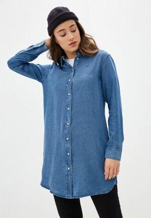 Платье джинсовое Calvin Klein Jeans. Цвет: синий